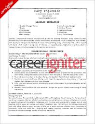 Massage Therapist Resume Sample Career Igniter