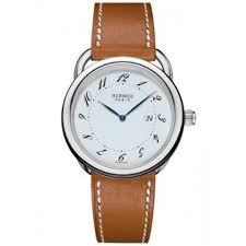 hermes watches jomashop hermes arceau silver dial men s leather watch
