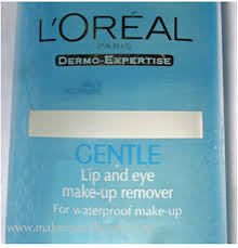 l oreal gentle lip and eye makeup remover