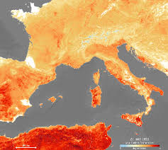 Satellite Weather Chart Even Satellites Can See Europes Sweltering Heat Wave Space