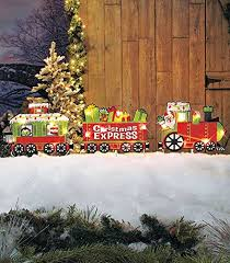 santa christmas express train christmas yard decoration