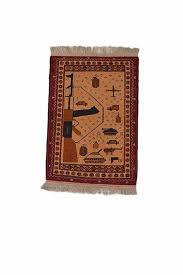 details about vintage afghan wool rug hand woven rug 2 7 x 3 8