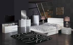 King Size Modern Bedroom Sets Volare King Size Modern Black Bedroom Set 5pc Made In Italy Ebay