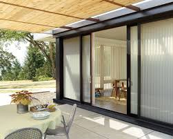 french door shades and luminette privacy sheers