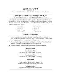 Format Of A Resume Resume Sample Web