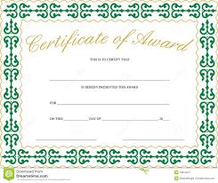 Award Certificate Template Free Certificate Of Award Stock Vector Illustration Of Success 18613247