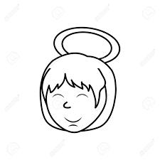 かわいい天使漫画アイコン ベクトル イラスト グラフィック デザイン