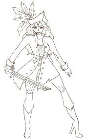 Small Picture Girl Pirate Coloring Pages Inspiring Bridal Shower Ideas