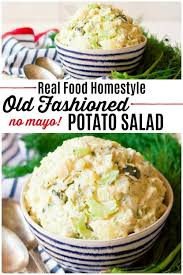 food homemade potato salad no mayo