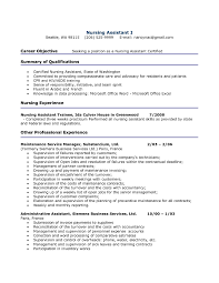 Objective On Resume For Cna Cna Resumes Sample Resume Hospital Nursing Assistant Job Objective 7