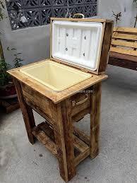 pallet rustic cooler plan wooden pallets outdoor cooler