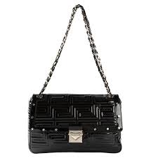 GIANNI VERSACE COUTURE black patent quilted leather shoulder bag ... & GIANNI VERSACE COUTURE black patent quilted leather shoulder bag For Sale Adamdwight.com