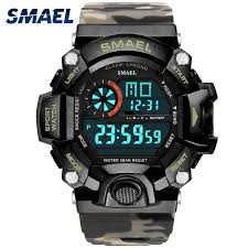 <b>Sport Watches 5Bar Water</b> Resist SMAEL Brand LED Watches ...