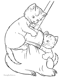 Small Picture fantasy cats coloring page for adults cat coloring page cat and
