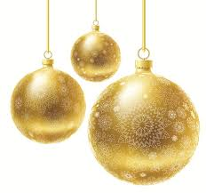 Large Transparent Three Christmas Ball Ornaments Clipart Christmas Ornament