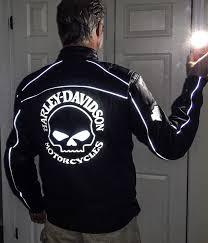 new harley davidson leather jacket reflective willie g skull design mens xl tall image