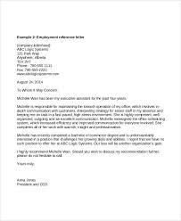 Job Re mendation Letter for Employee