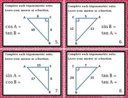 Geometry Sin Cos Tan Chart Right Triangles Sin Cos Tan Introduction To Trig Notes Practice Riddle Bundle