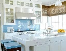 blue glass tile backsplash sky blue glass subway tile kitchen white kitchen with blue glass tile