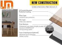 eco friendly spc commercial unique oak good quality plastic flooring