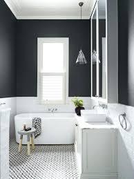 Black And White Bathroom Wall Tiles Bathroom Design Painted Wall Tile Half  Tiled Walls Black White