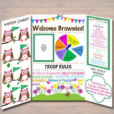 Kaper Charts For Girl Scouts Template Brownie Girl Scout Kaper Chart Ideas Girl Scout Kaper Charts