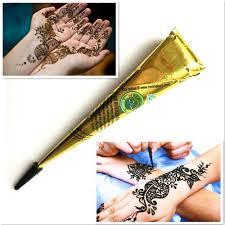 1ks černá Henna Tetování Vložit Kužely Dočasné Indické Mehndi Henna