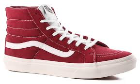 vans shoes red and white. vans women\u0027s sk8-hi slim shoes - (retro sport) tibetan red/true red and white