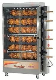 máquina ar 30 frangos inox a gás rotativo progas pr634n