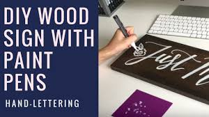 hand lettering wooden signs with paint pens diy tutorial