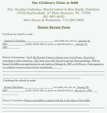 Create A Doctors Note Free Doctors Medical Note For Employer Excuse Template Fake Free