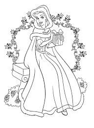 Small Picture Christmas Disney princess Coloring Page coloration Pinterest
