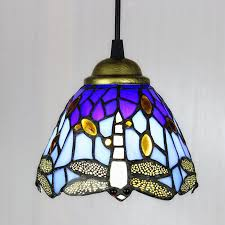 details about stained glass tiffany style hanging pendant lamp ceiling light dragonfly pattern