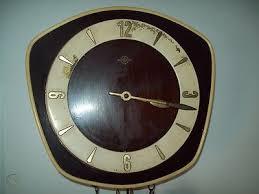 germany haller mid century wall clock w