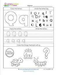abc worksheets letter q