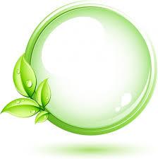 Green plant and circle Free vector in Adobe Illustrator ai AI