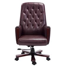 brown leather office chairs. Office Chair Chesterfield Artificial Brown Leather Chairs O