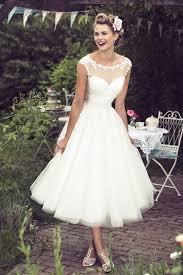 simple vintage tea length wedding dress 77 about modern wedding