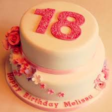18 Birthday Cakes Girl Floral 18th Make The Pink A Mint Green And It