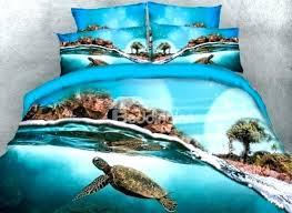 sea turtle bedding set sea turtle comforter sets turtle under the sea swim printed 4 piece sea turtle bedding set