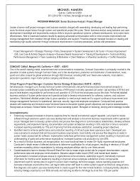 Business Analyst Project Manager Resume Sample Free Resume