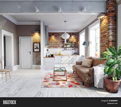 Scandinavian Design Concept Modern Apartment Image Photo Free Trial Bigstock