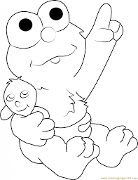 Small Picture Ba Elmo Coloring Page Free Sesame Street Coloring Pages Printable