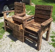 wood pallet patio furniture. Pallet Double Chair Wood Patio Furniture R