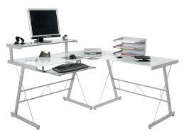 small glass computer desk freedom to glass corner desk