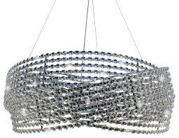 23 chrome crystal drum chandelier pendant