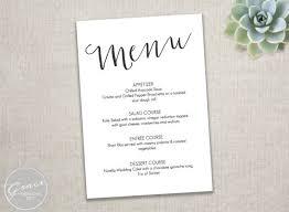 Free Menu Templates Printable Dinner Menu Templates Free