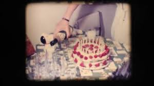 Vintage 8mm Birthday Cake And Champagne Stock Video Gigidread