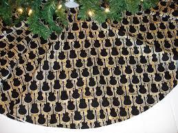 Guitar Christmas Tree Skirt, Music Christmas Tree Skirt, Rocker Tree Skirt,  40