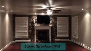 Home Improvement | Living Room | Stacked Stone Accent Wall